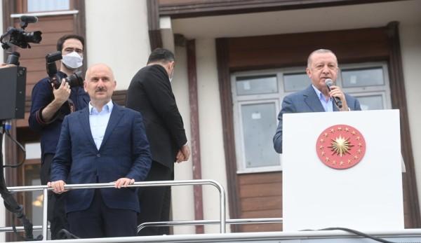 Bakan Karaismailoğlu, Çalışmalarla İlgili Cumhurbaşkanı Erdoğan'a Bilgi Verdi