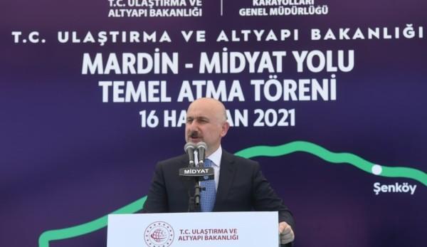 Mardin Midyat Yolu'nun Temeli Atıldı