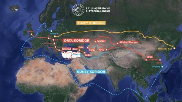 """Süveyş Kanalına Alternatif En Uygun Taşıma Rotası, """"Orta Koridor"""""""