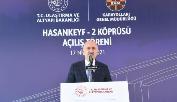 Ülkemizin En Uzun Köprülerinden Hasankeyf-2 Köprüsünün Açılışı Gerçekleşti