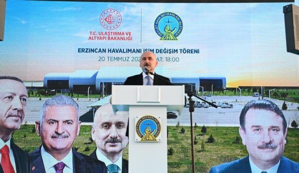 Yıldırım Akbulut'un Adı Erzincan Havalimanında Yaşayacak
